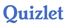 The word Quizlet written in blue