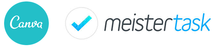 2 logos: canva and meistertask