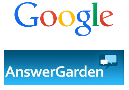 2 logos: google and answergarden