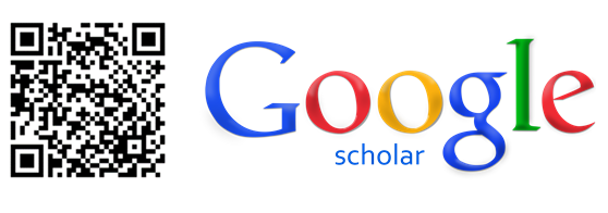 A QR code and the Google scholar logo