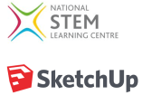 National stem learning centre logo and Sketchup logo